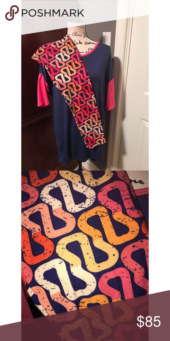 LuLaRoe XS Irma and OS Leggings! This beautiful, super soft outfit was only worn 3xs tops! It's is in excellent condition. The Irma is a baseball tee look! Smoke free home 🏡 LuLaRoe Pants Leggings