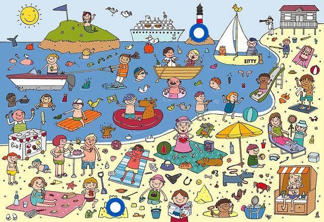 """vertelprent : """"Naar het strand"""" (Anne Van Der Pol)"""