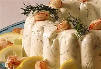 Rekerand - smakfull rekerand med snøfrisk passer perfekt på koldtbord. Kan også lages i kuvertstørrelse.
