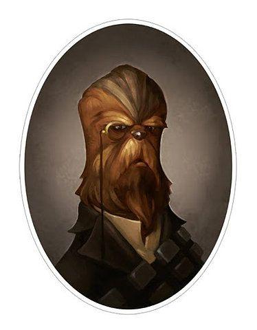 Chewbacca, the First Mate, by Greg Peltz. Star Wars Art, illustration, pop