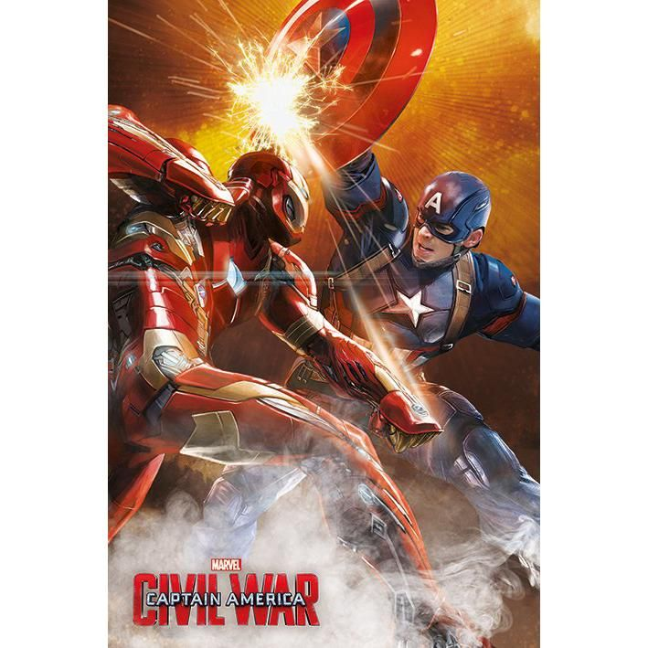 Fight - Poster by Captain America Civil War