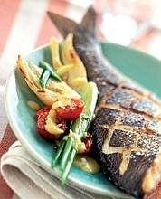 Pesce alla griglia con finocchi