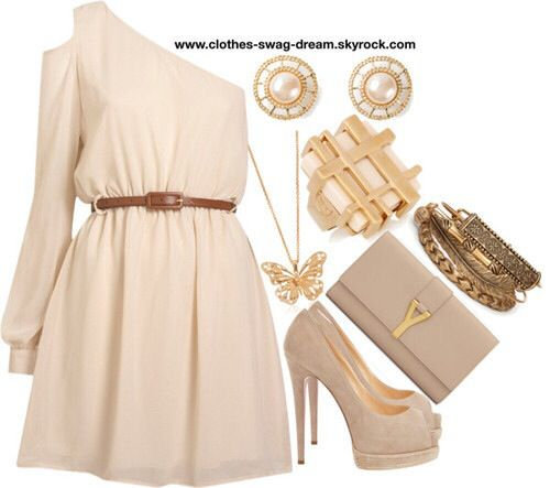 Lindo vestido beige #casual #cute | I ️ this outfits! | Pinterest ...