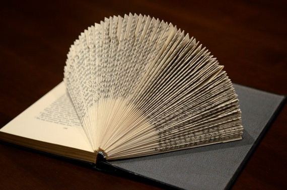 Folded Book Art  'Tim' by Kate Holland of eVolveBooks on Etsy