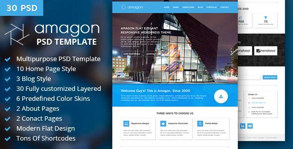Amagon : Flat Multipurpose PSD Template