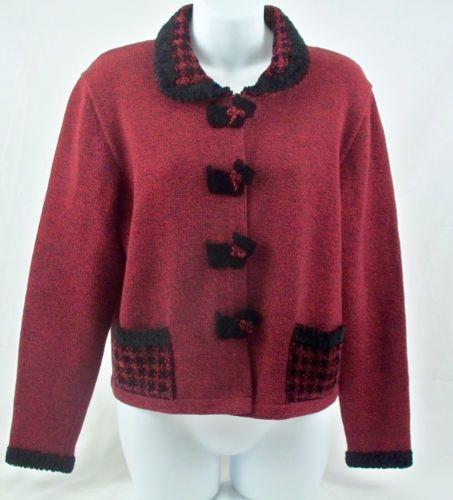 Jamie Kreitman New York Sweater Scottie Dog Houndstooth Size M Made in USA