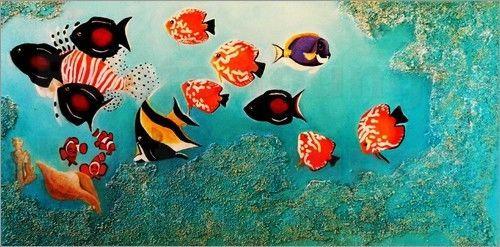 Poster / Leinwandbild Tropische Fische - ANOWI  | eBay