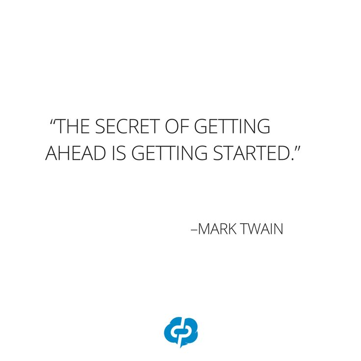 """""""The secret of getting ahead is getting started."""" - Mark Twain-Motivational and inspirational,quotes for small business owners,entrepreneurs,retailers,boutique owners."""