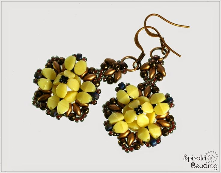 Spirala beading: Apate Earrings