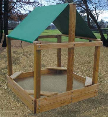 Free covered sand box plans plan it play covered sandbox for Sandbox with built in seats plans