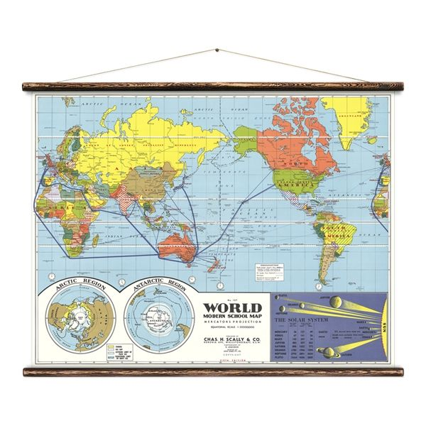 The World - Shool Map - Erstwhile - Product Showroom