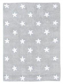 Kid's rug Stars Grey