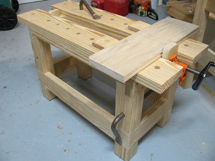 Saw Bench With A Pipe Clamp Vise Tools Pinterest