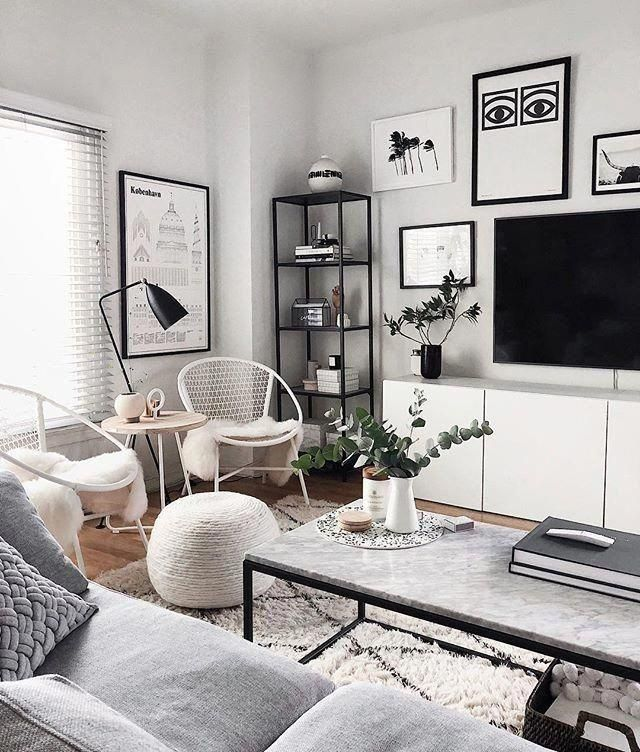 Start Using These Interior Decor Tips To Brighten Your Home And Give It New Life Home Designing Is E In 2020 Monochrome Living Room Room Interior Living Room Interior