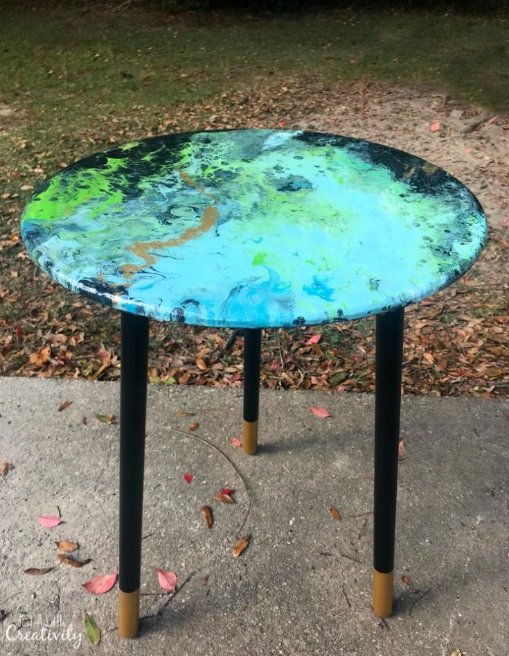 Fun & Funky Poured Painting & Resin Table