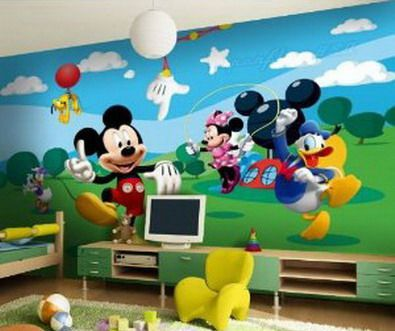 I wish I had enough money to put this on one wall for Dylan  He. 17 Best ideas about Mickey Mouse Wall Decals on Pinterest   Mickey