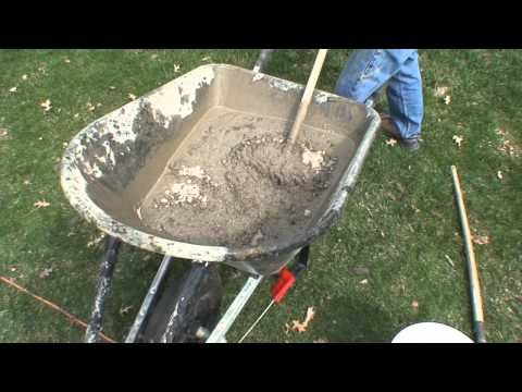 Basketball Goal Installation - Mixing the Concrete for an in-ground basketball system - basketball goal - http://sports.onwired.biz/basketball/basketball-goal-installation-mixing-the-concrete-for-an-in-ground-basketball-system-basketball-goal/