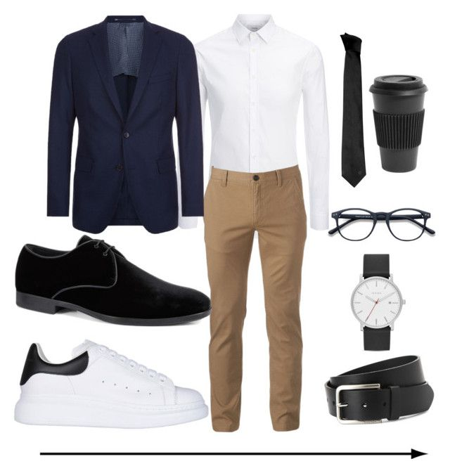 """Untitled #6"" by julygm93 on Polyvore featuring Joseph, Urban Pipeline, BOSS Hugo Boss, Alexander McQueen, Tod's, Skagen, Versace, Nautica, Homage and men's fashion"