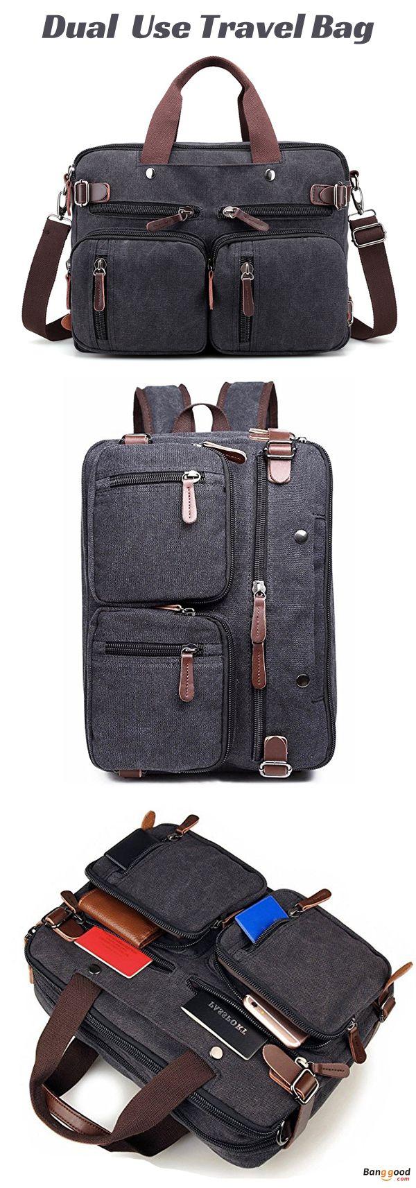 US$36 + Free shipping. Men Bag, Street Handbags, Vintage Crossbody Bag, Shoulder Bag, Travel Bag, Duel Use Backpack, Men Backpack. Color: Black, Brown, Grey, Khaki. Material: Canvas.