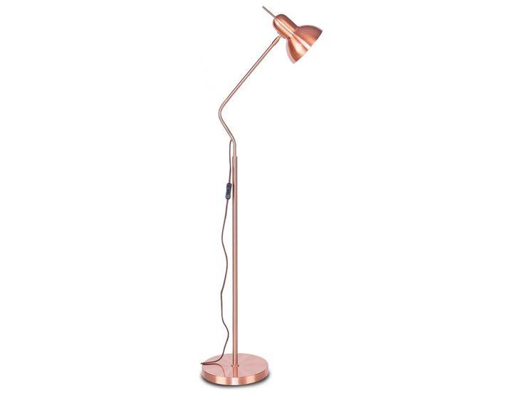 podlahová lampa nottingham měděná