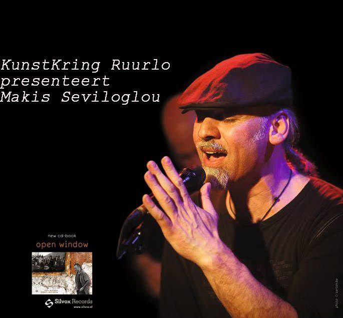 Makis Seviloglou & Band op Koningsdag, 26 maart om 20.30 uur in het Kulturhus te Ruurlo