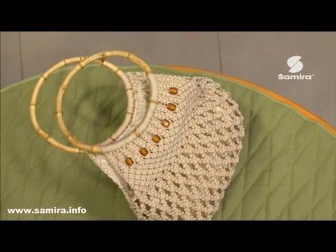 طريقة صناعة حقيبة يد بالمكرامي
