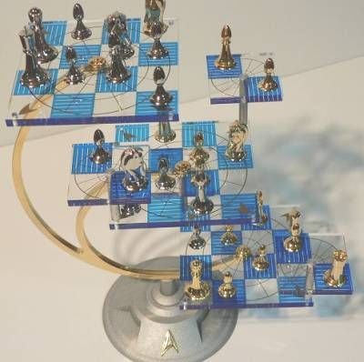 Star Trek 3D Chess Set - was released in 1994 by Franklin Mint but have been discontinued and are VERY hard to come by.