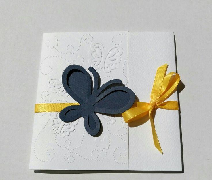 invitație nunta Fluture