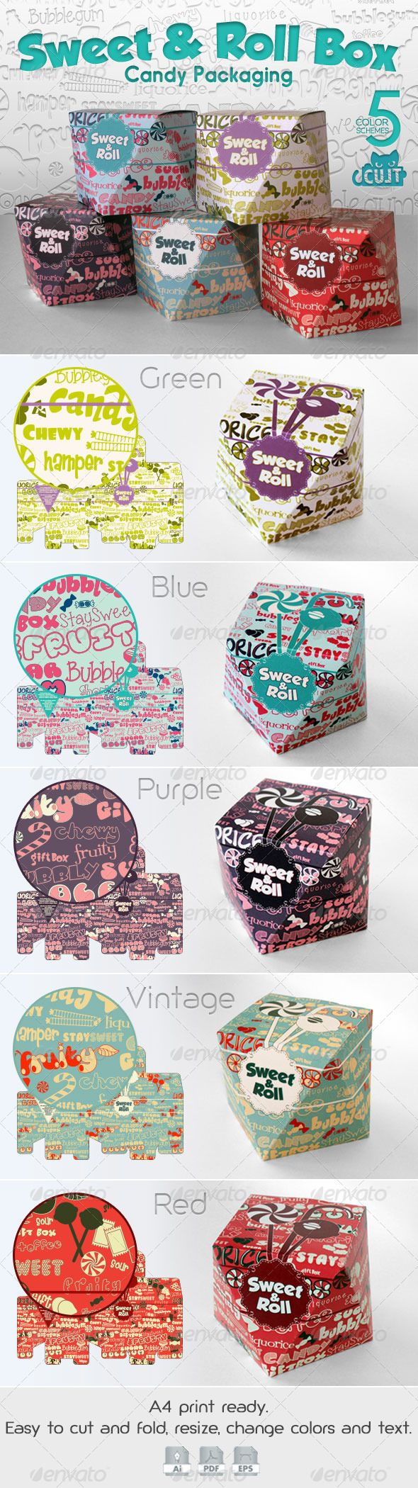 Sweet & Roll Candy Box Here http://bit.ly/1gR3QE7