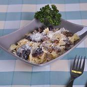 Farfalle aux cèpes et râpé de grana padano - une recette Végétarien - Cuisine