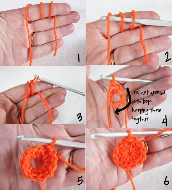 crochet: Sliding Ring / Sliding Loop. How to start in the round. Magic ring / magic loop crochet
