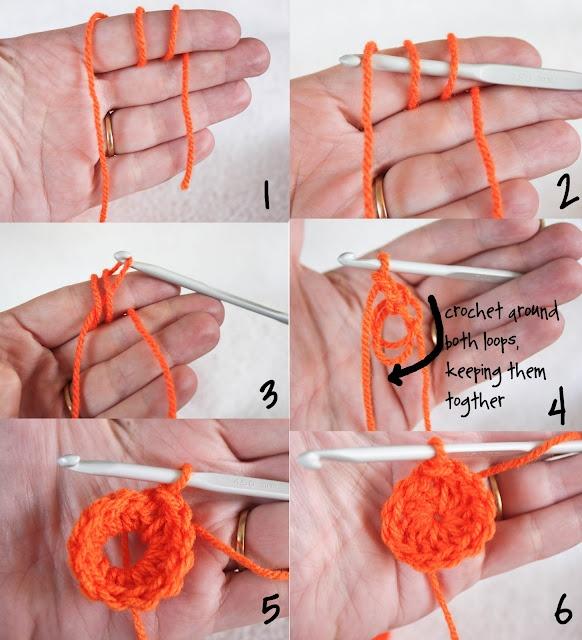 crochet: Sliding Ring / Sliding Loop. How to start in the round. Magic ring / magic loop crochet