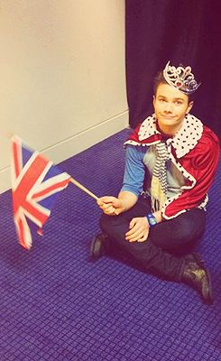 Chris Colfer. (The fact he's also an Anglophile makes me love him even more.)