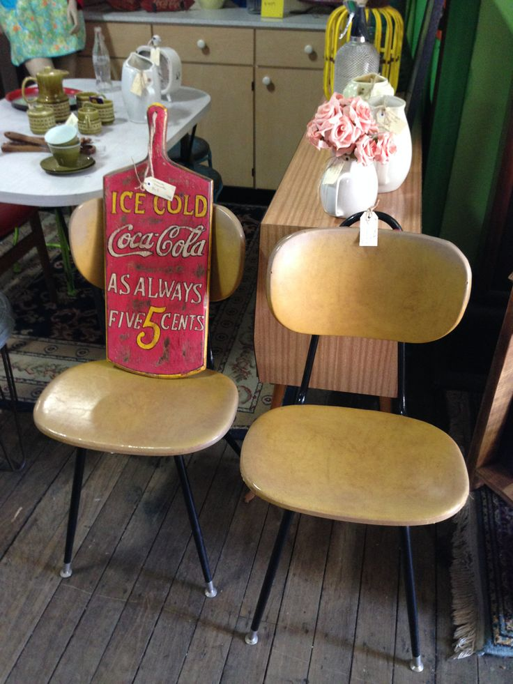 This pair of retro kitchen chairs are do in #retro #vintage# chair #itsmeagain