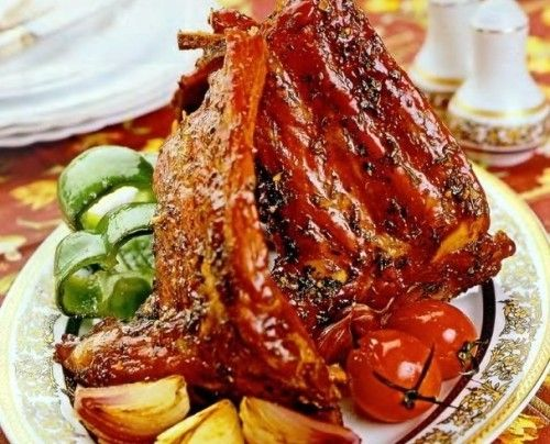 Свиные ребрышки в вине по-новогоднему
