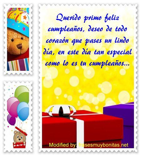 Lindas Frases De Cumpleaños Para Mi Primo Con Imágenes Citas
