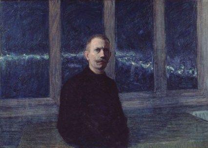 Jansson, Eugéne (1862-1915). Jag. Självporträtt (1901), Olja på duk, 101x144