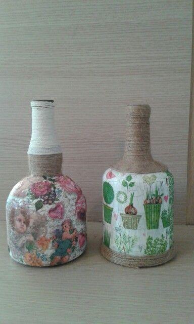 Μπουκάλια decoupage