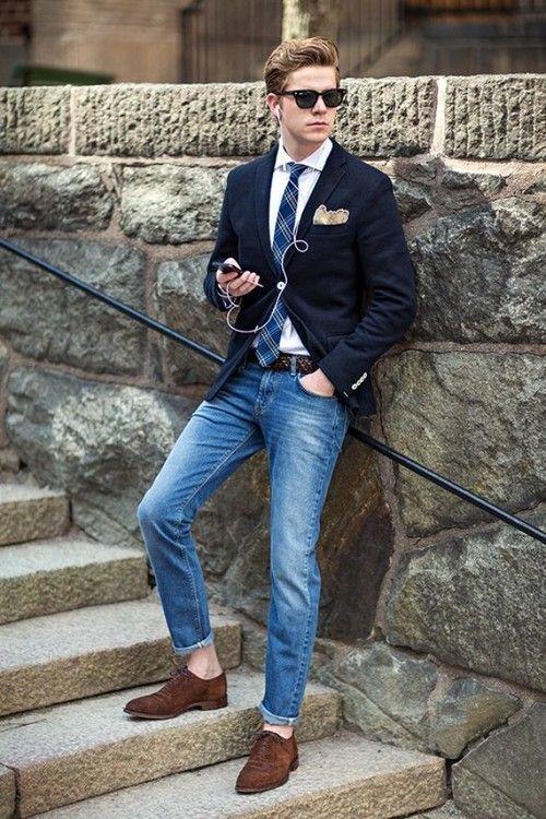 ジャケット×ジーンズで頼れるかっこいいお兄系タイプのコーデ。 参考にしたいスタイル・ファッションのアイデア。