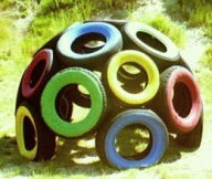 ladybug tire jungle gym - Google Search