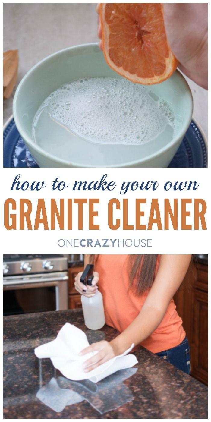 How to Make Granite Cleaner - a diy recipe for sparkling granite countertops