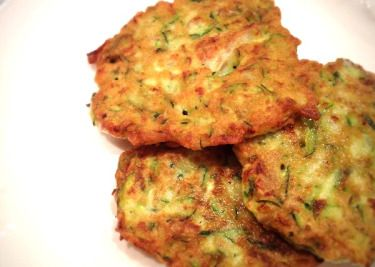If you love zucchini and Parmesan cheese, then you will love these delicious pancakes. Serve with a side order of sour cream.