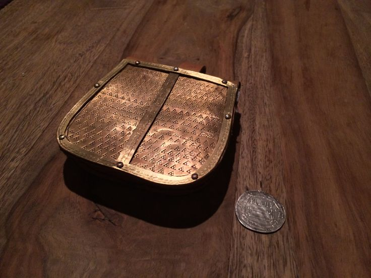 Metal-covered belt pouch based on Birka grave 819. From the group Sippe Guntursson