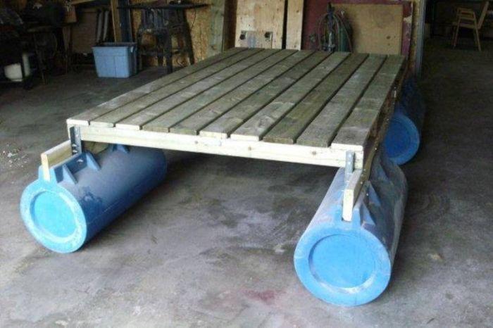 make a pontoon raft - Need to build this!