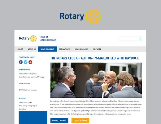 Template 019: Rotary Our new Rotary template! Specially designed for Rotary clubs in Norway.  #webdesign #template #website #responsive #rotary #new