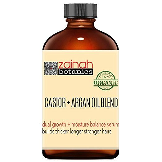 2oz 100% Organic Castor Oil & Argan Oil Blend Eyebrow + Eyelash Growth Accelerator Serum All Natural