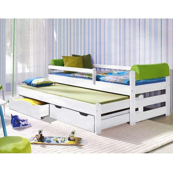 """Łóżko dziecięce model """"Doblo"""" 90x200 białe - Łóżka Piętrowe - Sklep internetowy Litdrew"""