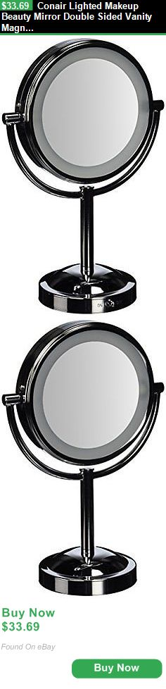 Makeup Mirrors 106256: Conair Lighted Makeup Beauty Mirror Double Sided Vanity Magnifying Chrome Stand BUY IT NOW ONLY: $33.69