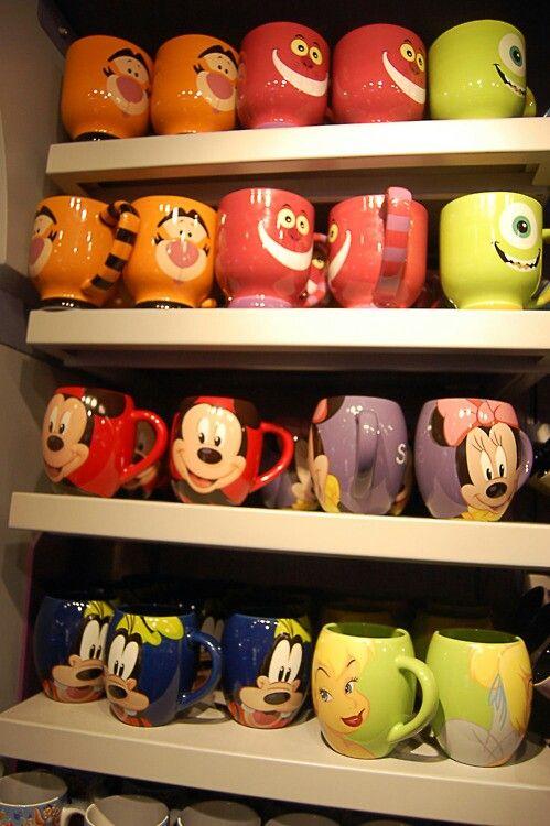 Disney mugs - the mug shelf at the Disney store always excites me! :)