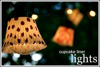 cupcake liner  lights: Cupcakes Liner, Lights Shades, Cute Ideas, Christmas Lights, String Lights, Cupcakes Holders, Cupcakes Wrappers, Cupcakes Rosa-Choqu, Parties Lights